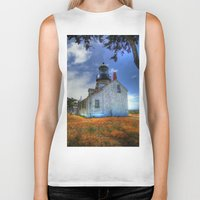 lighthouse Biker Tanks featuring Lighthouse by Christine Workman