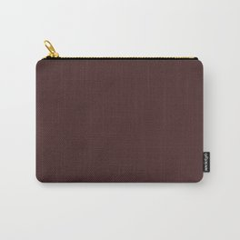 Dark Cafe Noir Solid Color Block Carry-All Pouch