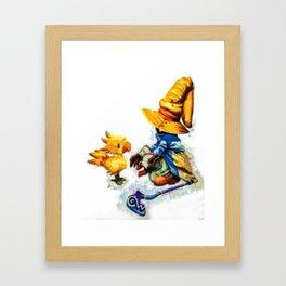 Vivi and the Chocobo Final Fantasy 9 Framed Art Print