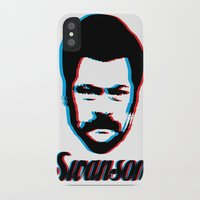 swanson iPhone & iPod Cases featuring Swanson by ThePencilClub