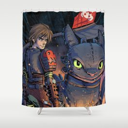 Dragon Trainer Shower Curtain
