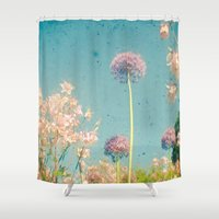 garden Shower Curtains featuring Garden by Cassia Beck