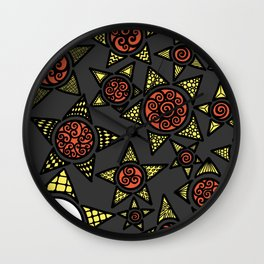 Autumn lonely stars Wall Clock