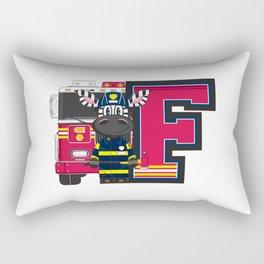 F is for Fireman Zebra Rectangular Pillow