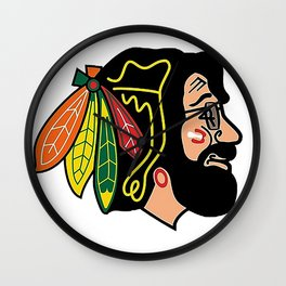 jerry hawk Wall Clock