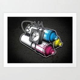 Graffiti Bombing Art Print