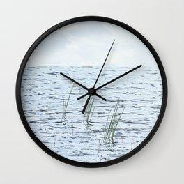 Calm waters. Wall Clock