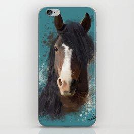 Black Brown Horse Artwork iPhone Skin