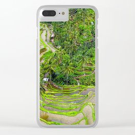 Bali Tegalalang Rice Terrace Clear iPhone Case