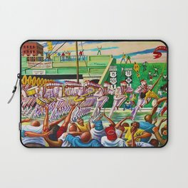 Classical African-American Masterpiece 'Homecoming' by Ernie Barnes Laptop Sleeve