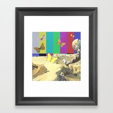 moon meander Framed Art Print
