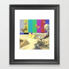 moon meander Framed Art Print