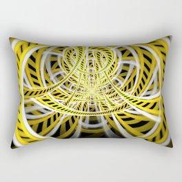 Yellow Tape Roller Coaster Ride on Fractal Rails Rectangular Pillow