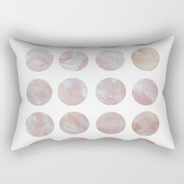 Rose Pink and Gold Minimalist Polka Dots Rectangular Pillow