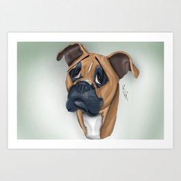 Daisy the Dog Art Print