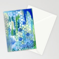 In amongst the blues and greens Stationery Cards
