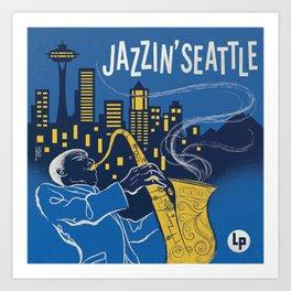 Jazzin' Seattle Art Print
