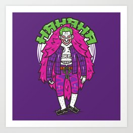 The Clown Pirate Of Gotham Art Print