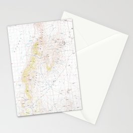 NV Jackson Mts 321522 1985 topographic map Stationery Cards