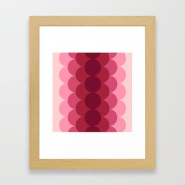 Gradual Pink Framed Art Print