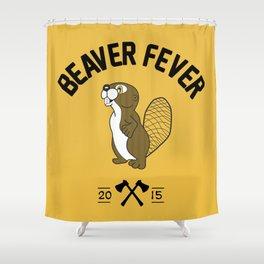 Beaver Fever - Black and White Shower Curtain