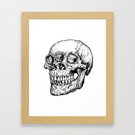 Skull Eyes Framed Art Print