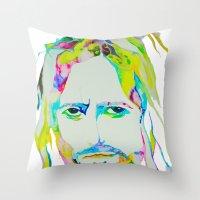 jesus Throw Pillows featuring Jesus by DApple