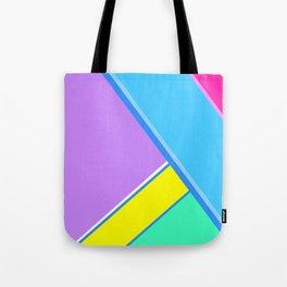 Happy Hues Modern Colorblock Pattern - Unicorns Frolic Tote Bag