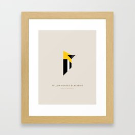 Yellow-Headed Blackbird Framed Art Print