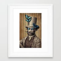 mandie manzano Framed Art Prints featuring Doctor Popinjay by Eric Fan