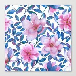 Romantic magnolia flowers Canvas Print