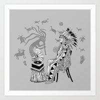 spiritual Art Prints featuring Spiritual Beginning by Astrablink7