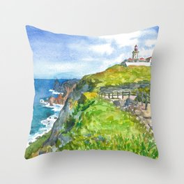 Cabo da Roca, Portugal Throw Pillow