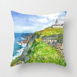 Cabo da Roca, Portugal Throw Pillow