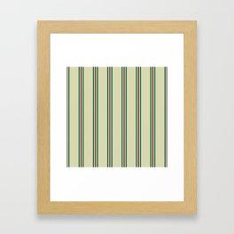 Retro Straight Stripe Framed Art Print