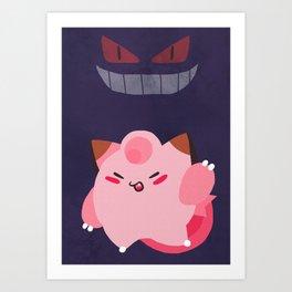 Pink Clef Purple Geng Art Print