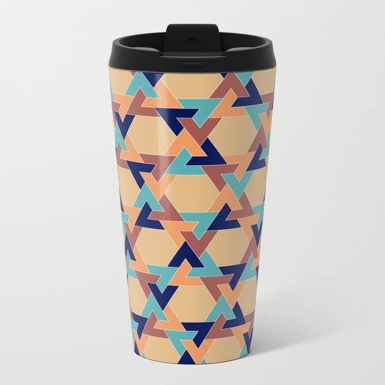 Geometric pattern 1977 Metal Travel Mug