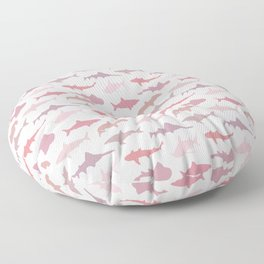 Pink Sharks Floor Pillow