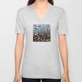 Multi-colored bubbles Unisex V-Neck
