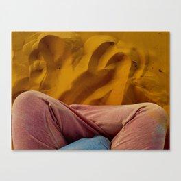 Sleep in the Sand Canvas Print