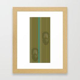 stripes and masks you + i Framed Art Print