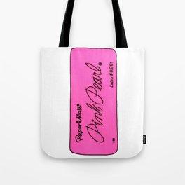 Pink Pearl Eraser Tote Bag