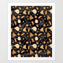 Snack Food Marble Art Print