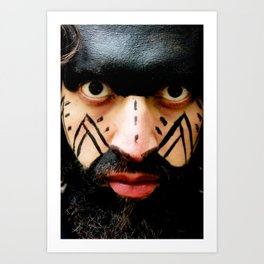 Colombian Tribal Bear Mark Of Courage by Wendy C Vega Art Print