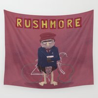 rush Wall Tapestries featuring more of a rush by christopher-james robert warrington