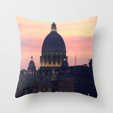 Night At The Vatican Throw Pillow