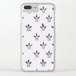 Indienne Block Print Clear iPhone Case