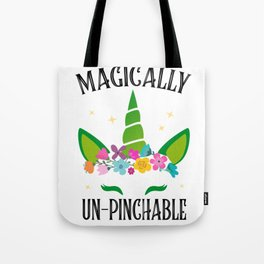 Unicorn sarcasm funny St. Patrick's Day Gift Tote Bag