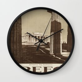 Vintage poster - Greece Wall Clock