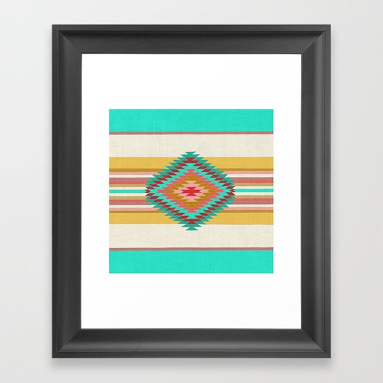 FIESTA (teal) Framed Art Print